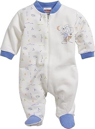 9bb51addcf Schnizler Baby-Jungen Schlafoverall Interlock Maus, Oeko-Tex Standard 100  Schlafstrampler, Beige
