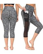 Munvot Damen Laufhose Sporthose Sport Leggings Tights 1 bis 2er Pack