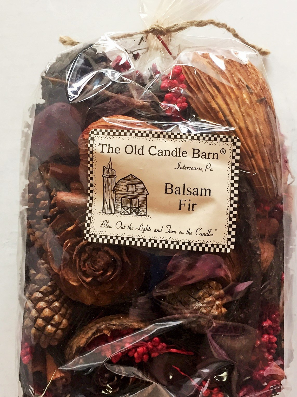 Balsam Fir Potpourri Large Bag - Perfect Winter or Christmas Decoration or Bowl Filler - Well Scented