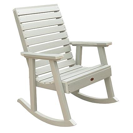 Highwood Weatherly Rocking Chair, Whitewash - Amazon.com : Highwood Weatherly Rocking Chair, Whitewash : Garden
