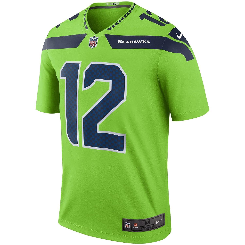 4401d94a Nike Seattle Seahawks #12 Fan Color Rush Neon Green Legend Dri-FIT Jersey -  Men's Medium