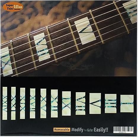 Adhesivos para mástil de guitarra y bajo, con números romanos ...
