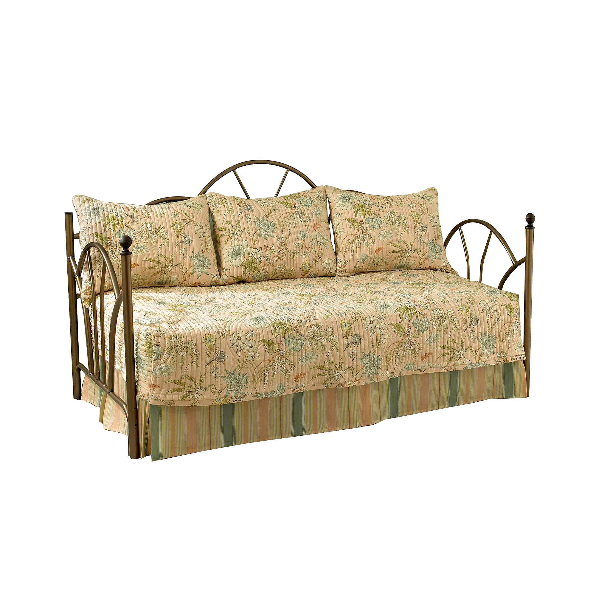 Waverly Cape Cotton Daybed Set, 54 x 105'', Coral