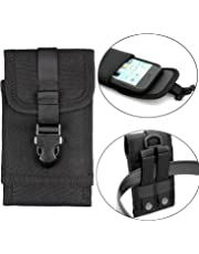 Mopaclle Nylon Outdoor MOLLE Tactical Military Pouch Army Camo Waist Holster with Belt Clip for iPhone X 8 7 6s 6 Plus , Samsung Galaxy S8 Plus S7 Edge Note 5 Note 8, Motorola Moto G4,Lenovo Moto G5