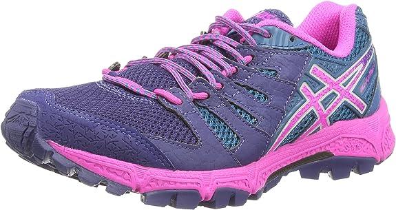 ASICS Gel-FujiAttack 4 - Zapatillas de Trail Running para Mujer, Color Azul (Indigo Blue/Pink Glow/Mosaic b 4935), Talla 42: Asics: Amazon.es: Zapatos y complementos