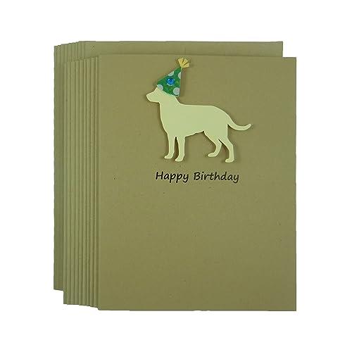 Amazon yellow labrador retriever birthday cards pack of 10 yellow labrador retriever birthday cards pack of 10 handmade yellow lab birthday greeting cards on m4hsunfo