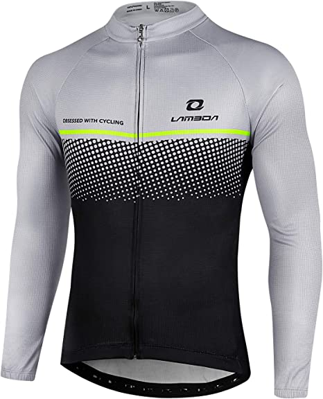 Giacca da ciclismo da uomo traspirante da ciclismo MTB in jersey a manica lunga
