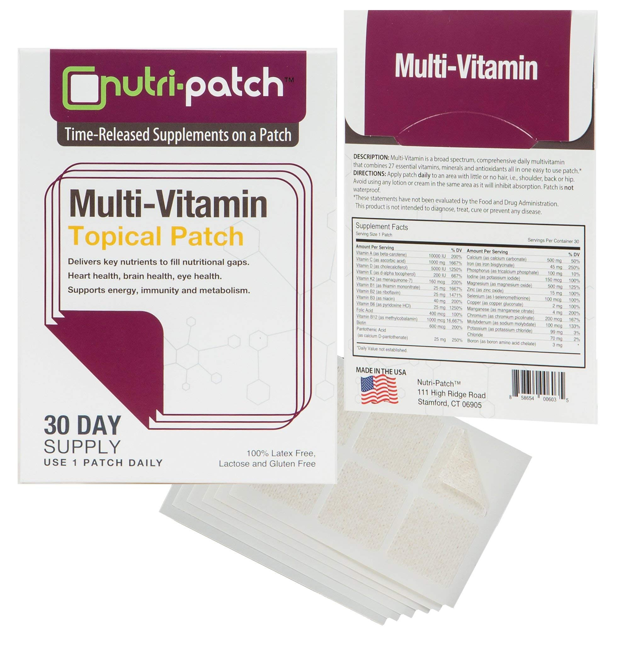 Multi-Nutrients Topical Patch from Nutri-Patch® by NUTRI-PATCH