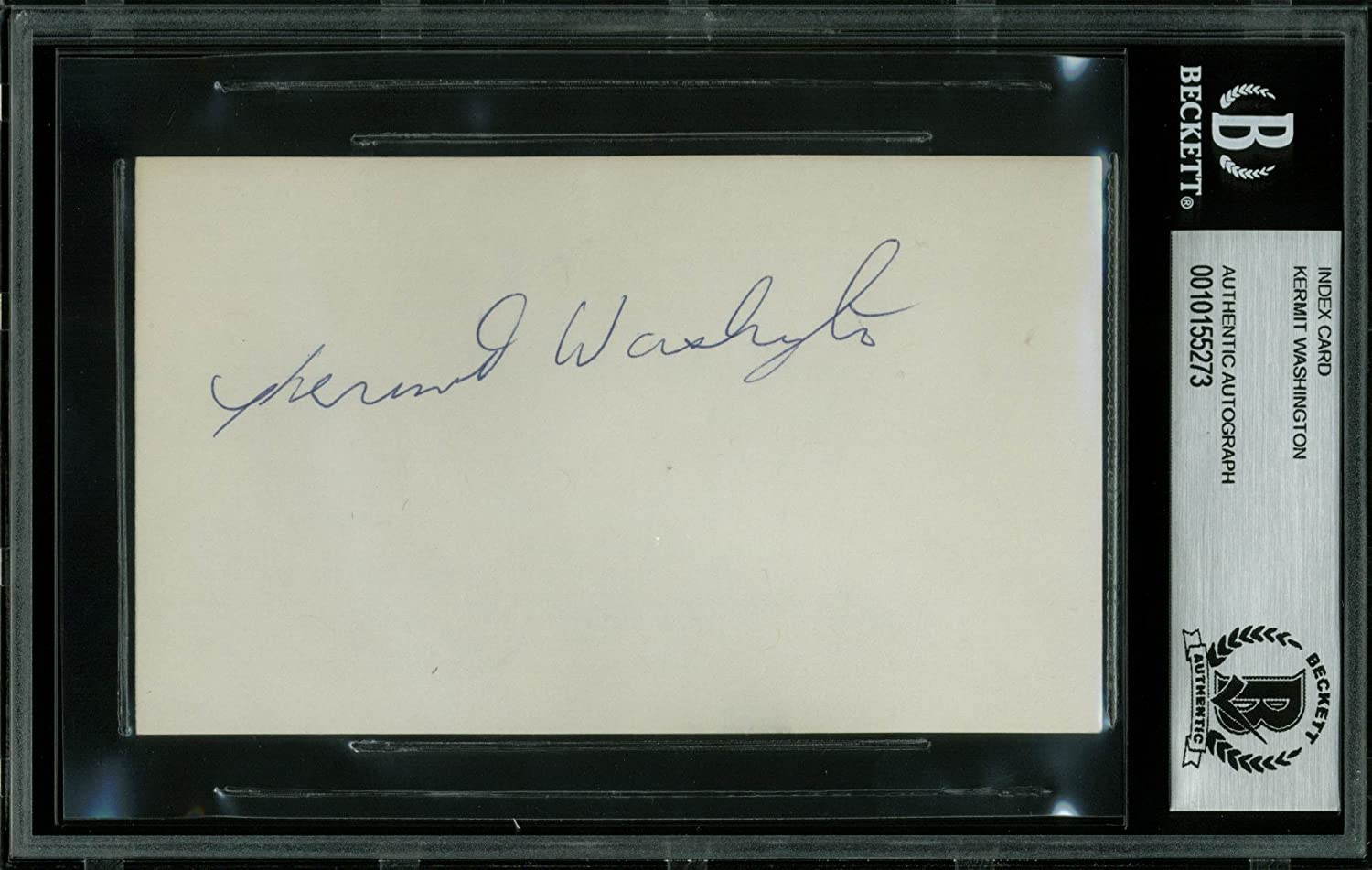 Lakers Kermit Washington Authentic Signed 3x5 Index Card