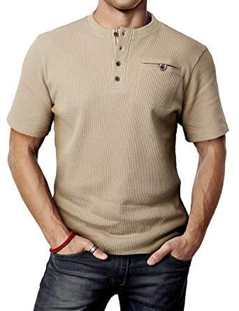 37f363312 H2H Mens Great for Daily Wear Slim Fit Short Sleeve T-Shirts Beige US S