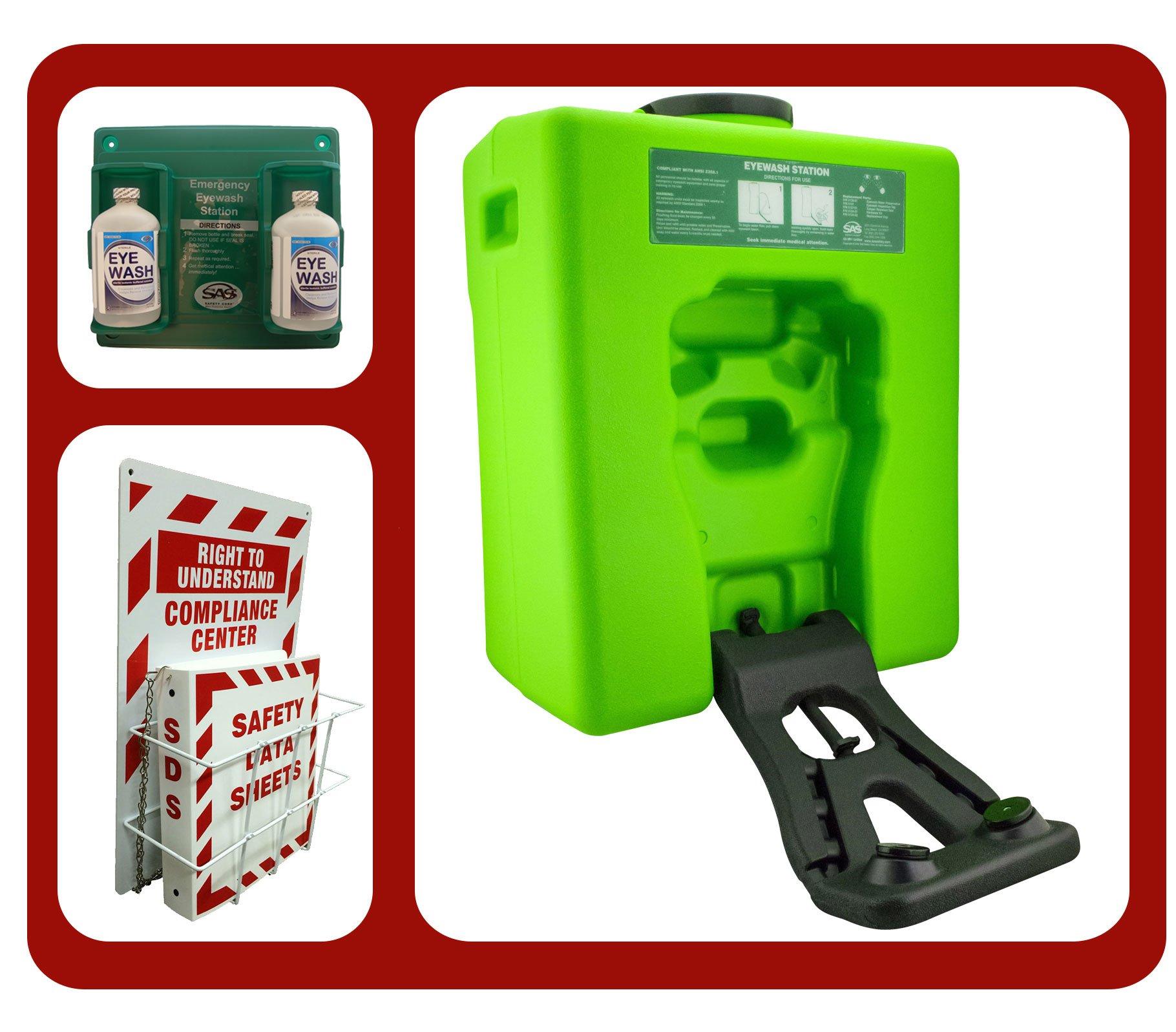 Emergency Eyewash Station Portable OSHA -Bundle