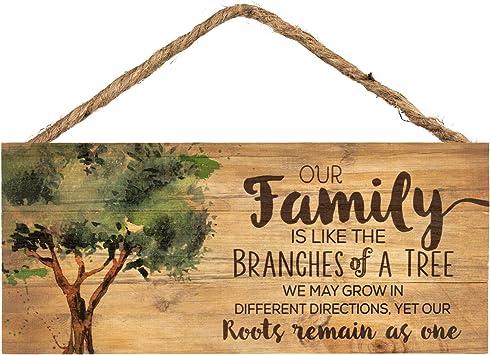 Amazon.com: Nuestra Familia como ramas en un árbol 5 x 10 de ...