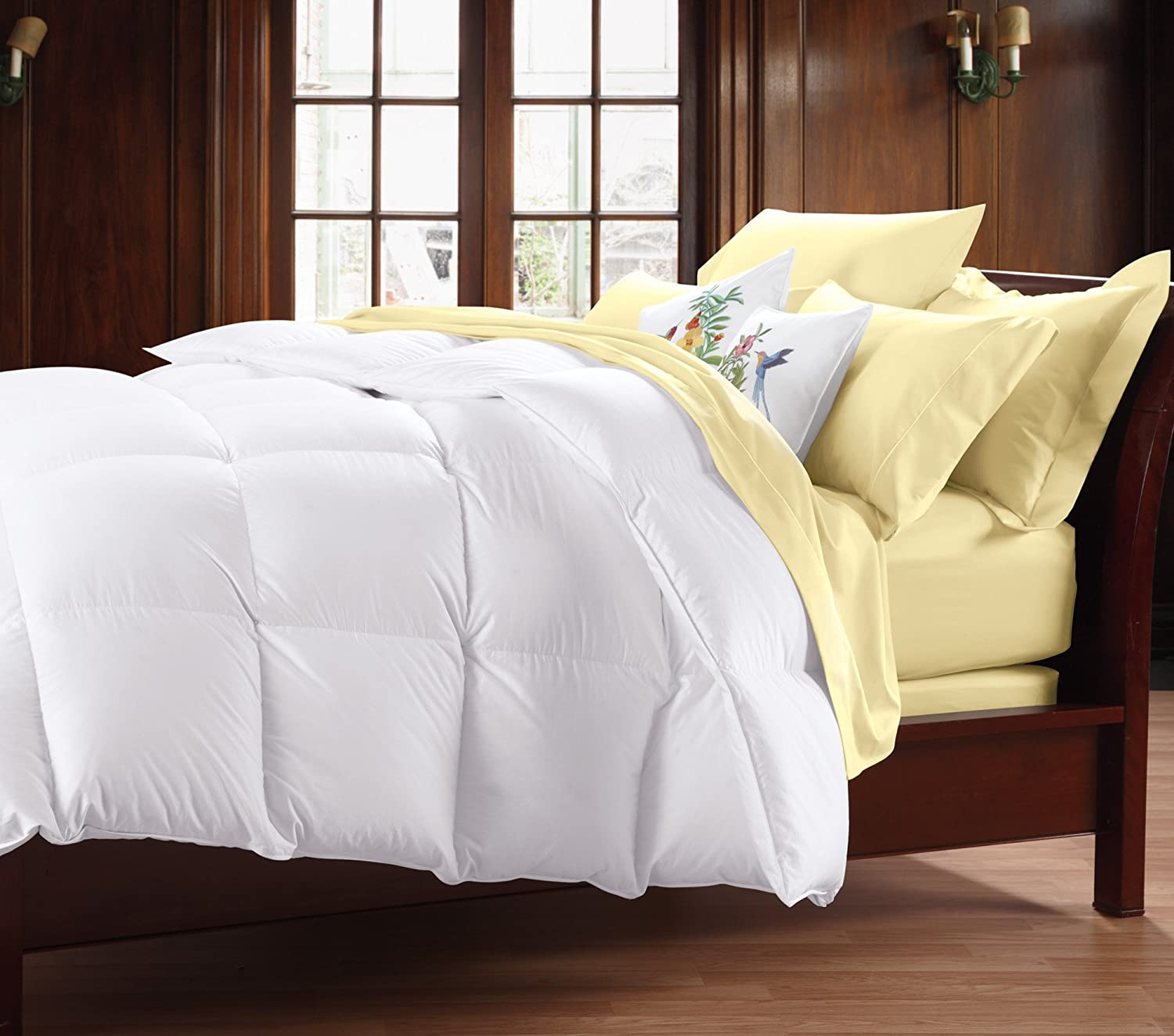 amazoncom cuddledown 400tc down comforter over size king summer white home u0026 kitchen