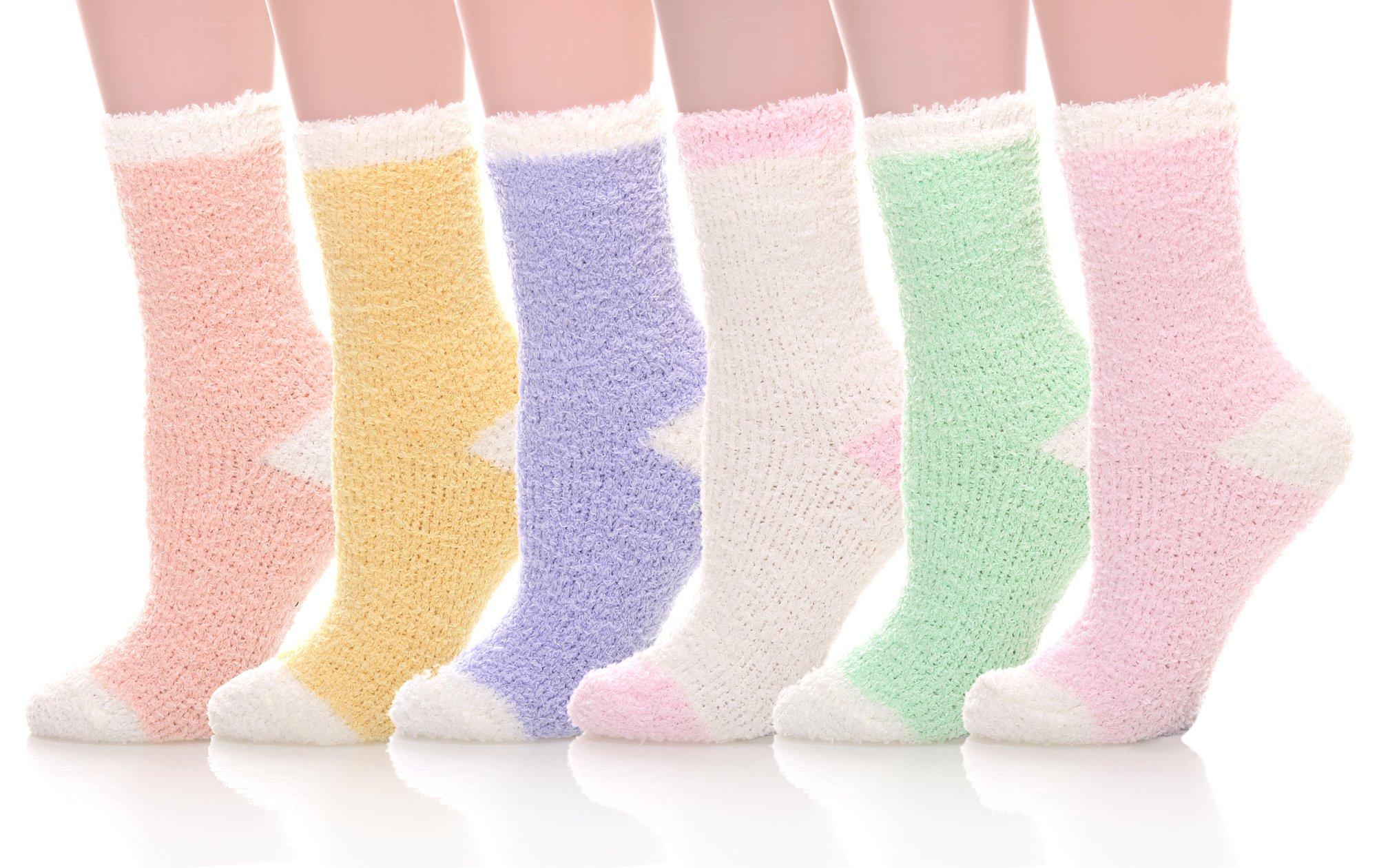 MIUBEE 6 Pack Women Super Soft Warm Microfiber Fuzzy Winter Warm Sleeping Slipper Socks