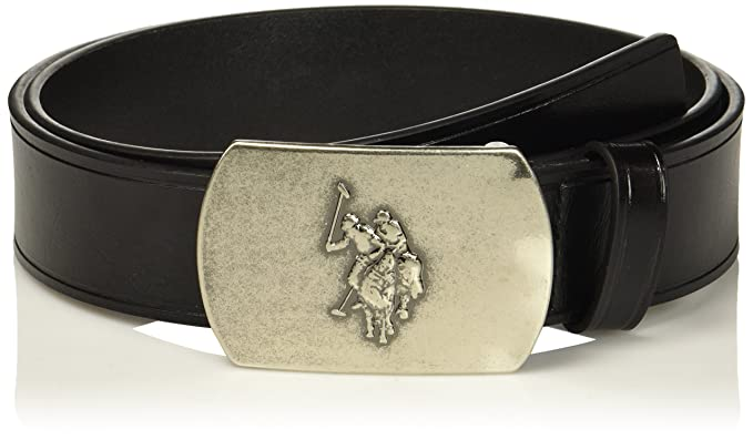 1d4a0caa7b Men's Belt with Plaque Slider Buckle