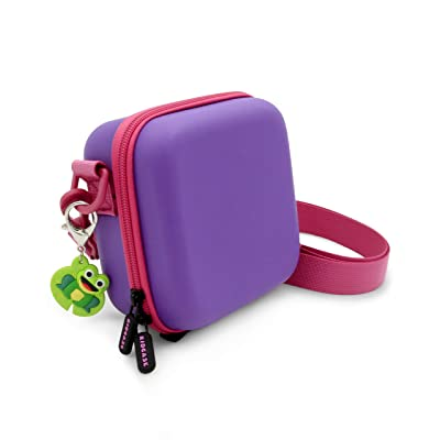 CASEMATIX KidCase Purple Kids Toy Box Compatible with Ourlife Kids Waterproof Video Camera and Accessories , Includes Kid Case and Pink Strap Only: Toys & Games