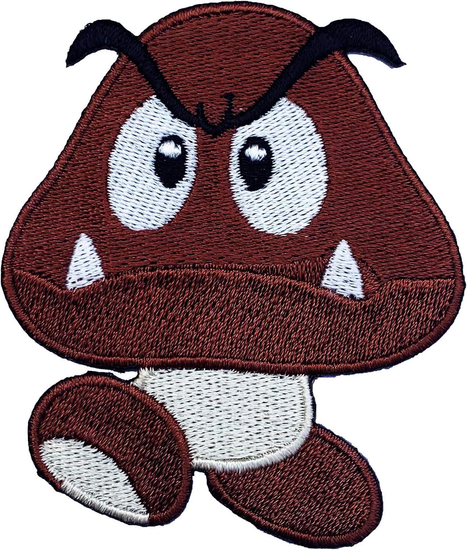 Goomba parche (6 cm) Super Mario Hermanos bordado hierro o coser ...