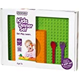 Placematix Kids Gift Box Arancio Set Piatti Regalo, Plastica, Multicolore, 4 pezzi