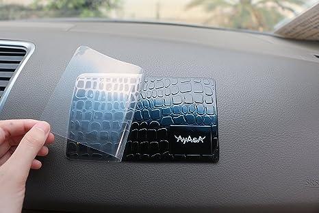 Ayasa Sticky Pad Dash Mat teléfono celular titular – capacidad para teléfonos celulares, detector de