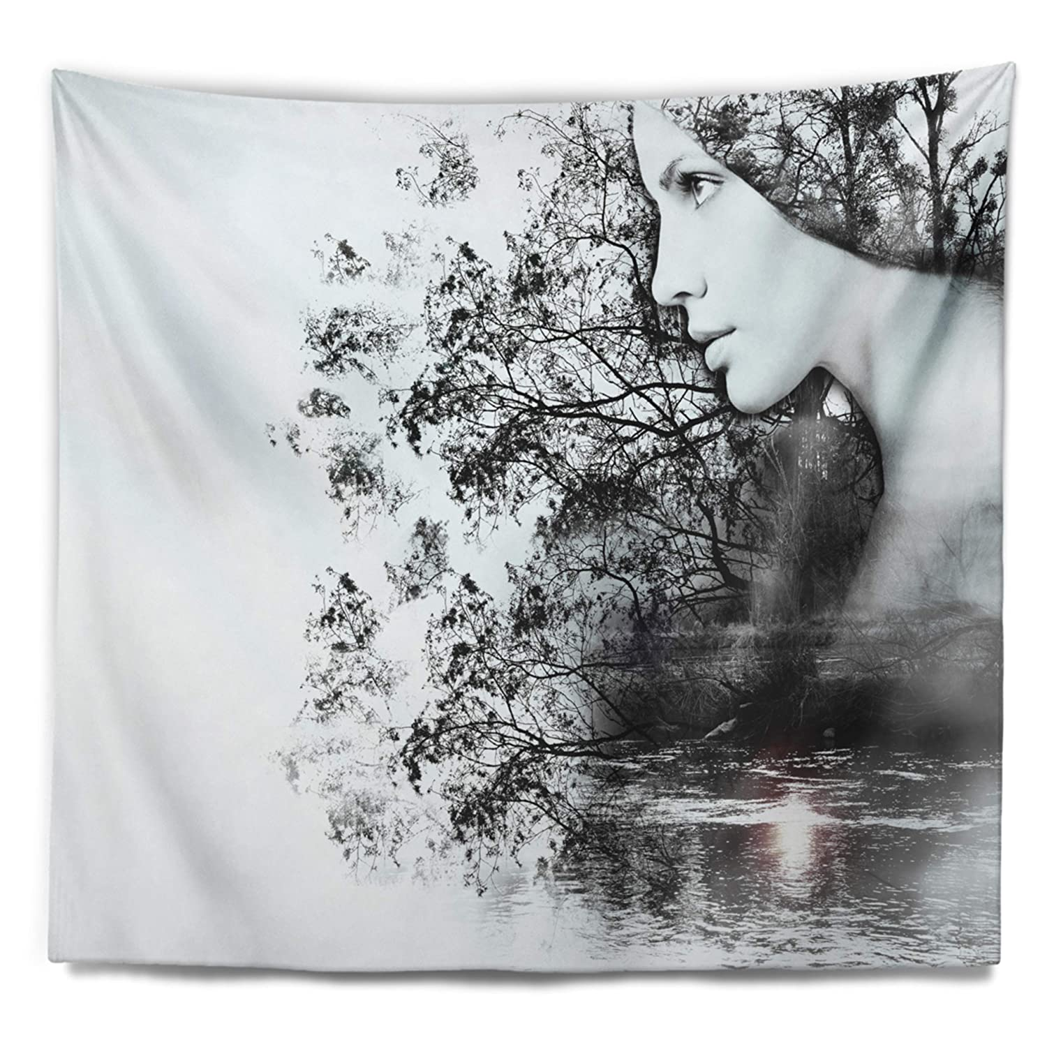 Created On Lightweight Polyester Fabric Designart TAP14316-80-68  Woman and Beauty of Nature Landscape Blanket D/écor Art for Home and Office Wall Tapestry x Large 80 in x 68 in