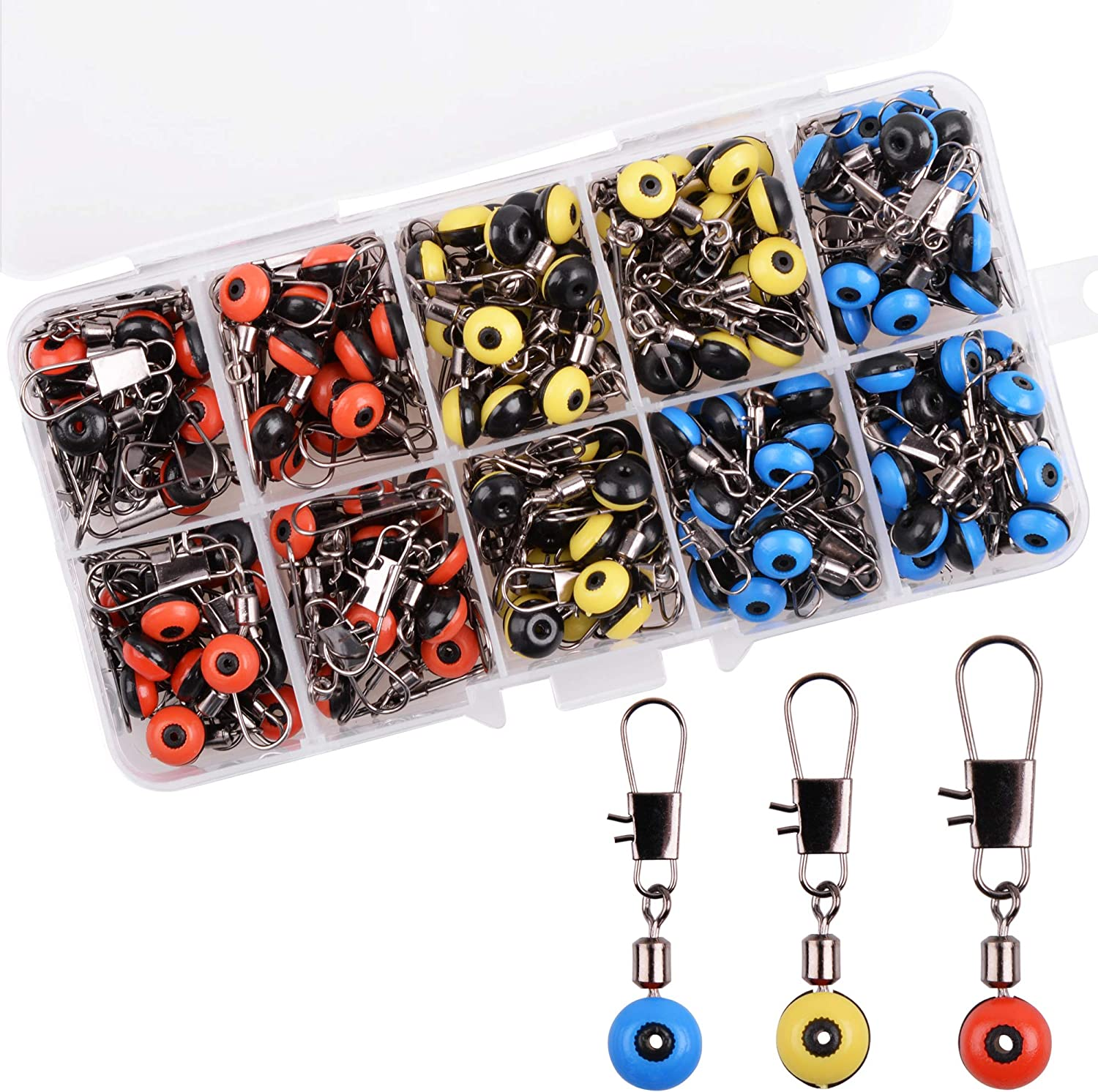 230 piece SEA FISHING TERMINAL TACKLE BOX HOOKS BEADS SWIVELS CLIPS RIG MAKING 2