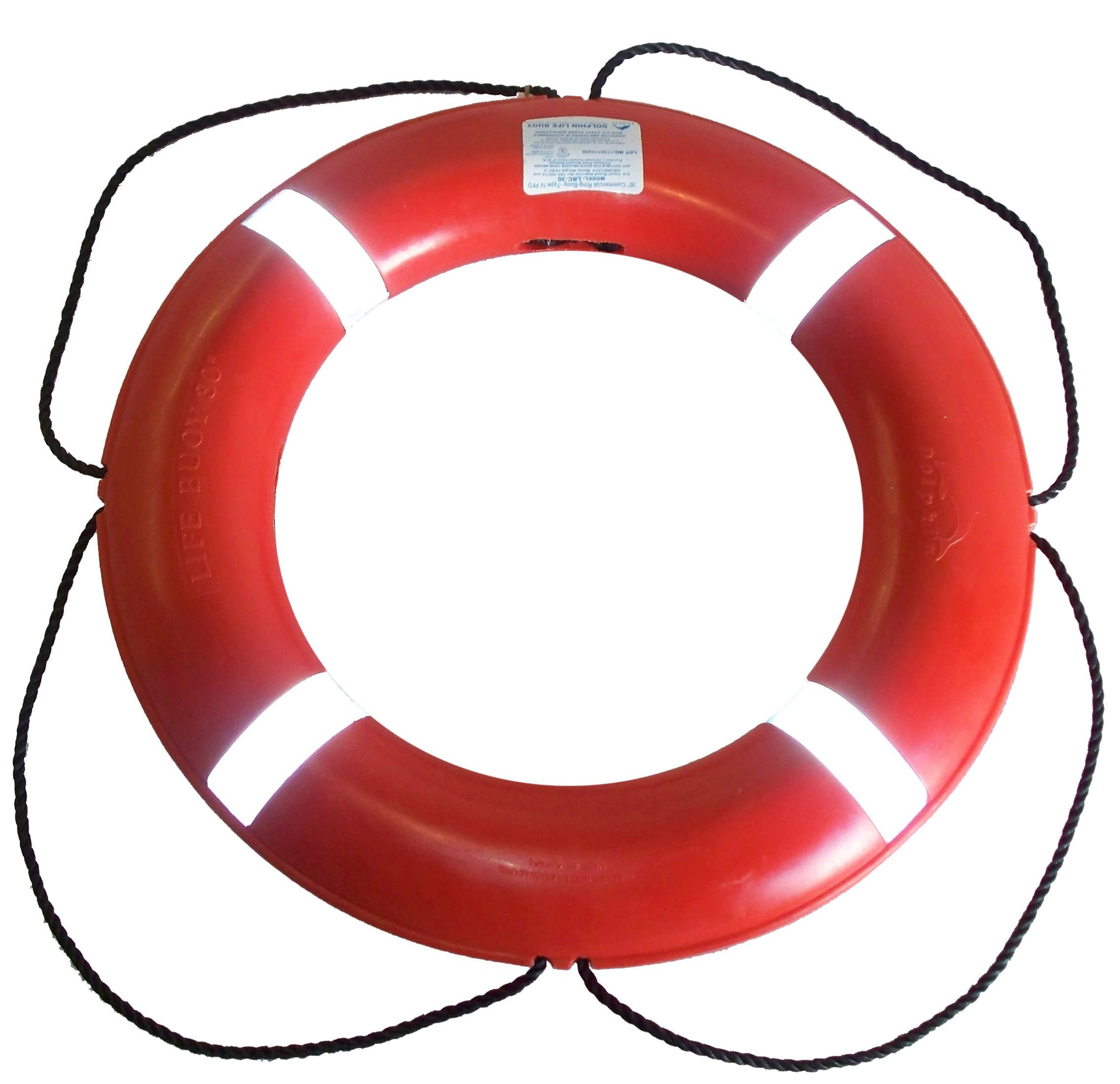 Dock Edge + Inc. USCGA Approved S.O.L.A.S. Life Ring Buoy (Orange, 30-Inch) by Dock Edge