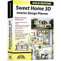 Sweet Home 3D - Interior Design Planner with an additional 1100 3D models and a printed manual, ideal for architects and planners - for Windows 10-8-7-Vista-XP & MAC