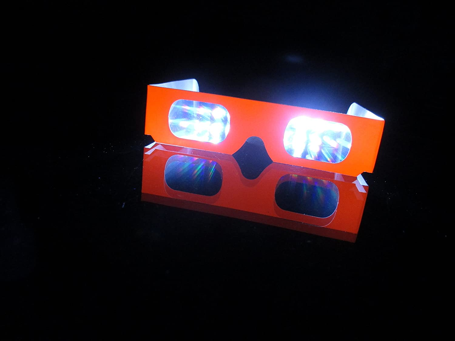 Diffraction Glasses - Neon Orange - 50 Pair - Great for Fireworks, Raves, Holiday Lights TOYfireworksorangex50RSHFS