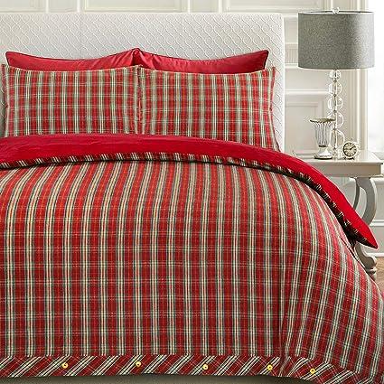 Nimsay Home Drap-housse en flanelle 100 /% coton bross/é 180 g//m/² Rouge