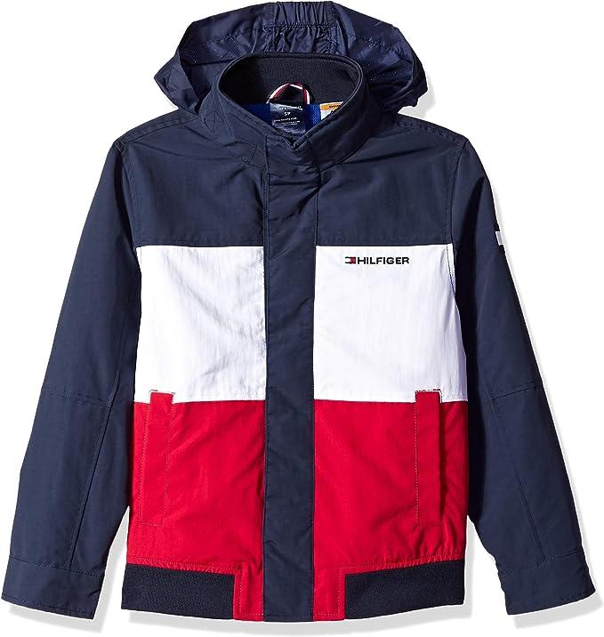 Tommy Hilfiger 汤米希尔费格 Adaptive系列 男童连帽夹克外套 XS码3折$23.66 海淘转运到手约¥192