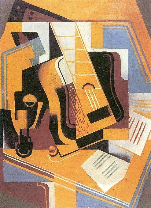 El Museo de salida - guitarra y taburete por Juan Gris - lienzo ...