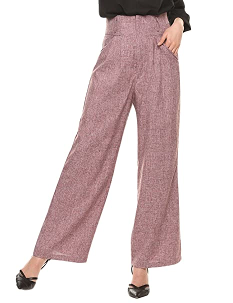 1940s Swing Pants & Sailor Trousers- Wide Leg, High Waist Zeagoo Womens Casual Superline Wide Flare Leg High Waist Zipper Solid Long Pants $27.99 AT vintagedancer.com