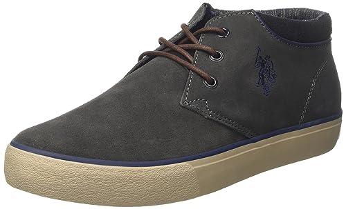 U.S.POLO ASSN. U.S. Polo Assn. Sherman Suede, Sneaker a Collo Alto Uomo, Marrone (Dark Brown), 42 EU
