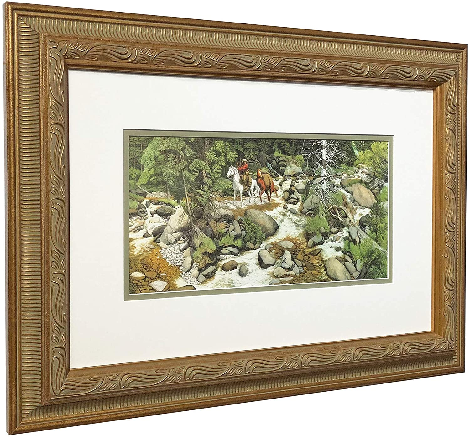 Amazon Com Bev Doolittle The Forest Has Eyes Matted Framed With Beautiful Gallery Frame Posters Prints