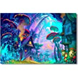 """35.5x23.5"""" (90x60cm) Poster Psychedelic Trippy Colorful Ttrippy Surreal Abstract Astral Digital Art Office Home Room Wall Deco (002)"""
