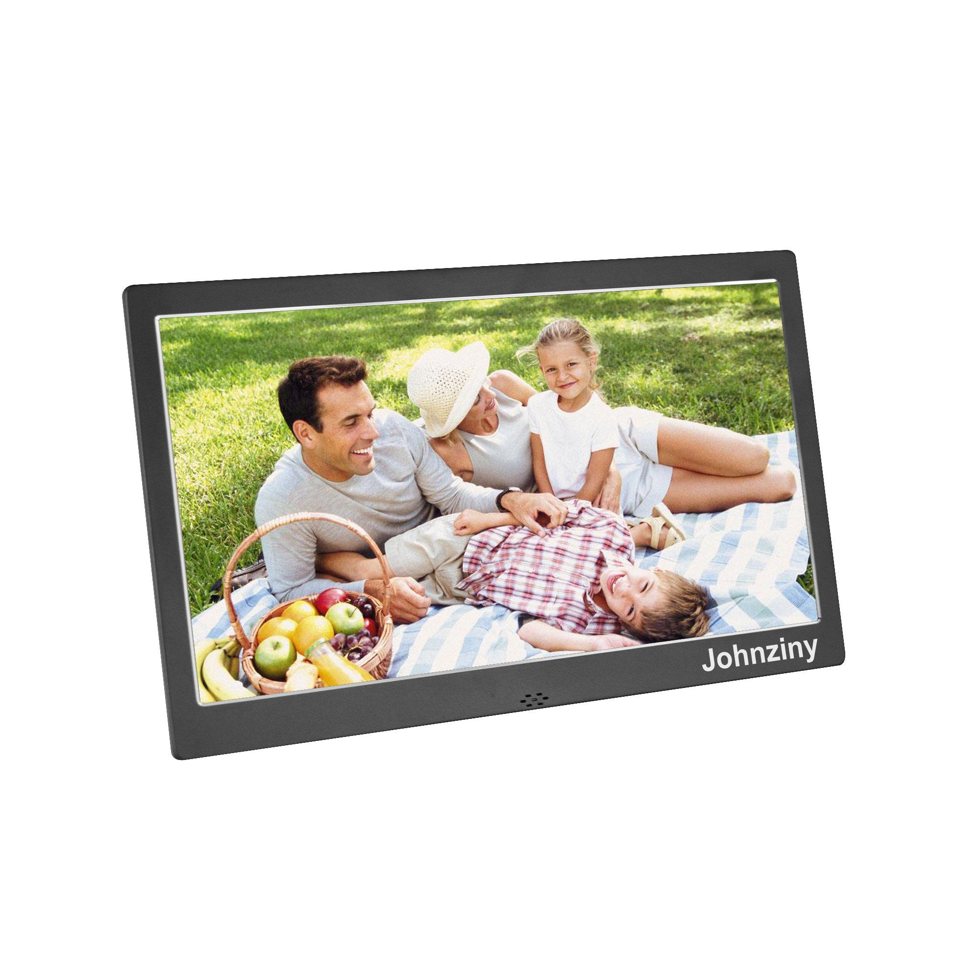 Digital Picture Frame 10 inch Metal Digital Photo Frame 1024x600 High Resolution Photo/Music/Video Player,with Remote Control/Calendar/12 Languages,USB/SD/MMC/MS Card Port by Johnziny (Image #1)