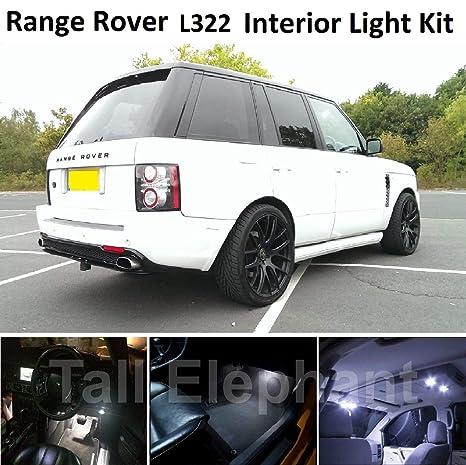 Kit de luces LED para interior de coche, color blanco xenón