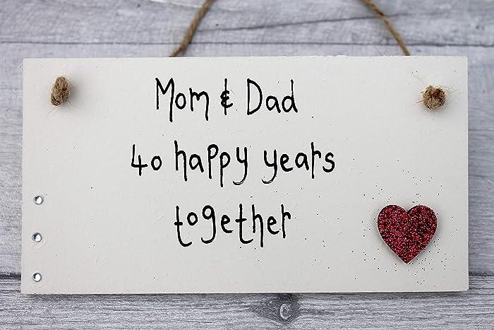 Amazon Com Madeat94 Parents Anniversary Gifts 40 Years Handmade