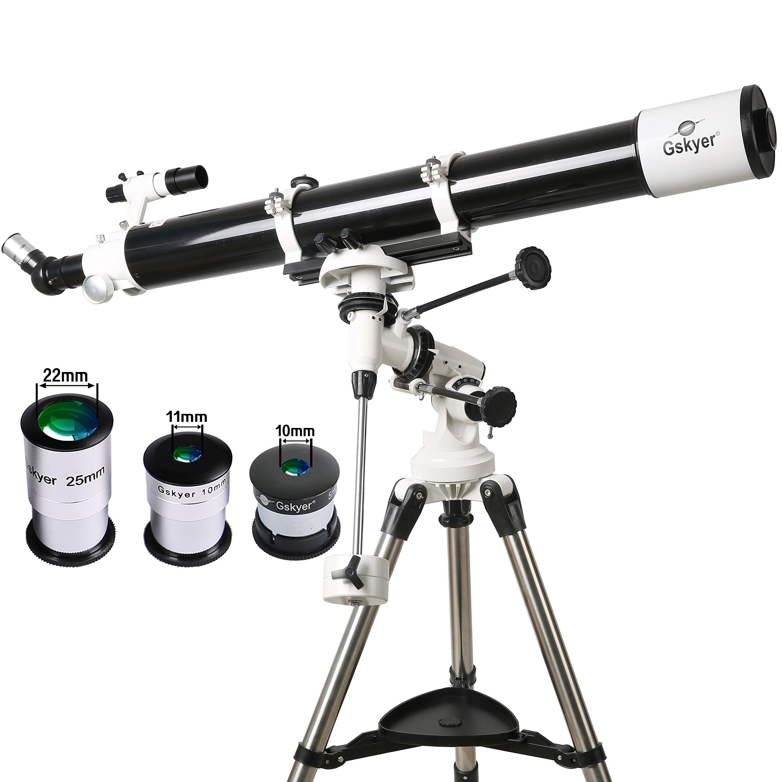 Gskyer Telescope, EQ901000 Astronomy Telescope, German Technology Refractor Telescope by Gskyer