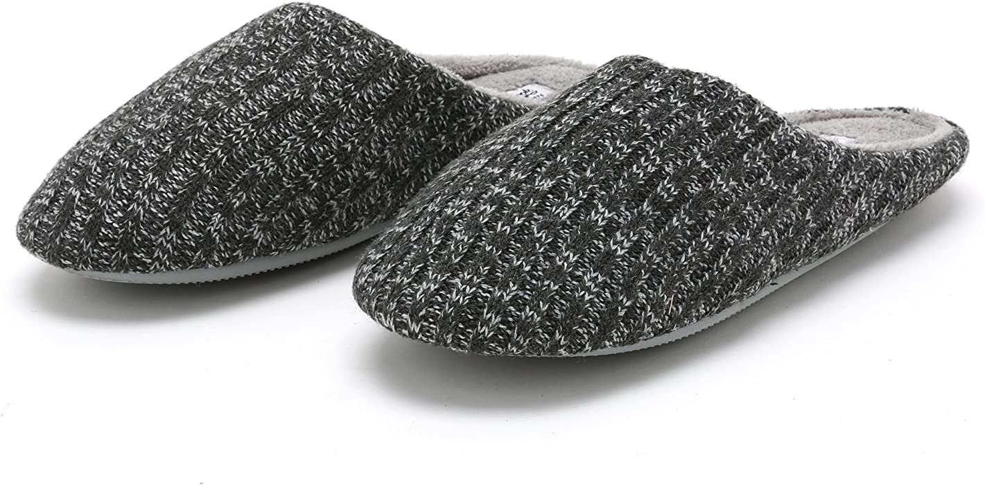 Amazon Pembrook Ladies Cable Knit Slippers Gray Size S