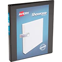 Avery Economy Showcase View Binder with 1/2 inch Round Ring, Black, One Binder (19550)