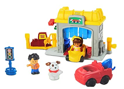 Garage Fisher Price : Amazon fisher price little people mini garage toys games