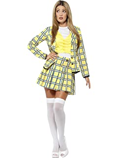 Amazoncom Dreamgirl Womens Fancy Girl Yellow Plaid Clueless Iggy