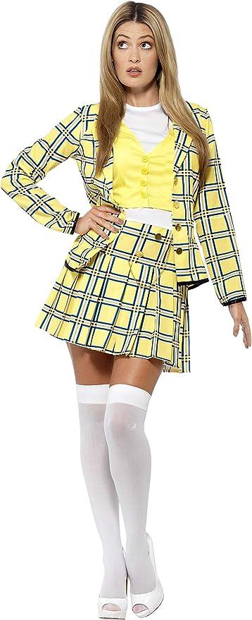 Roma female yellow plaid school girl costume set