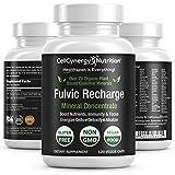 Premium Organic Fulvic Acid Trace Minerals Supplement – Keto, Vegan, Electrolytes - Fulvic Humic Mineral Blend - Energy, Detox, Inflammation, Immunity, Focus – CellCynergy 120 Veggie Capsules