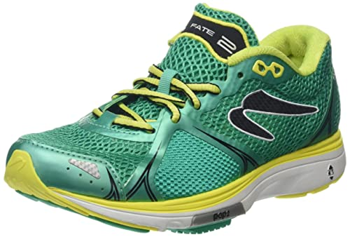 Newton Running Fate II Womens Running Shoe, Zapatillas Mujer, Verde (Green/Yellow