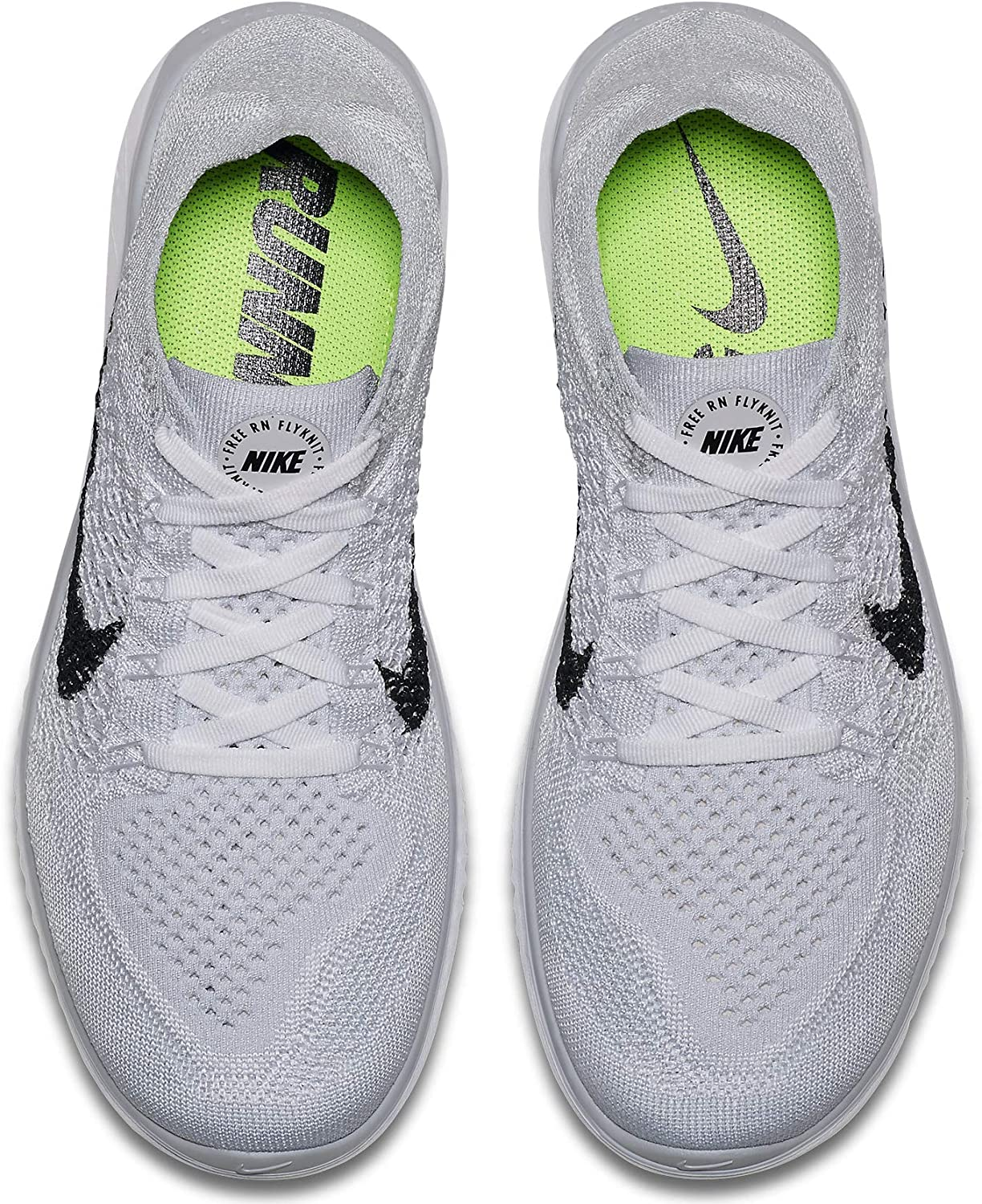 Nike WMNS Free RN Flyknit 2018 942839-100 White Black Pure Platinum Women s Running Shoes