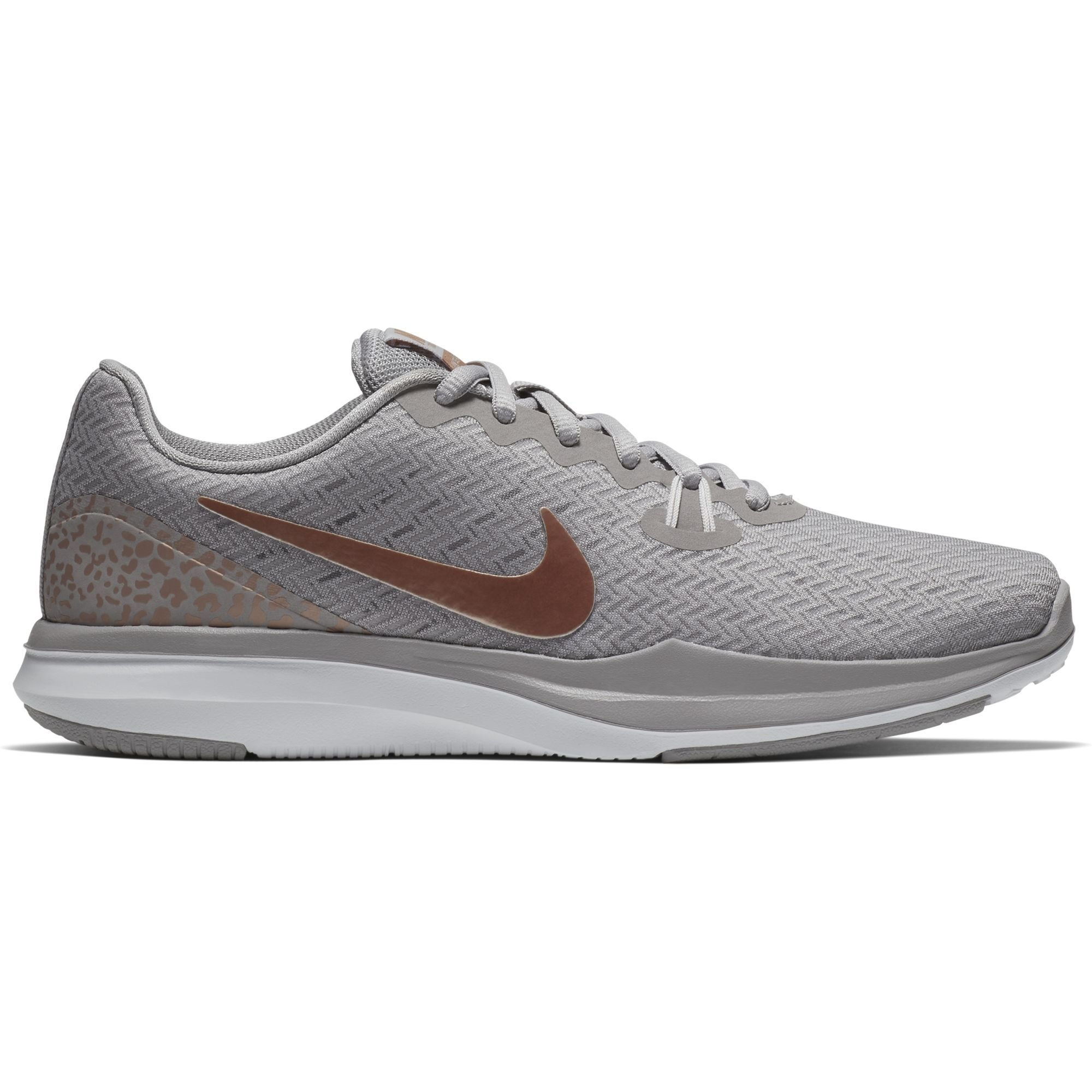 Nike Women's in-Season 7 Print Training Shoe Atmosphere Grey/Metallic Red Bronze Size 10 M US