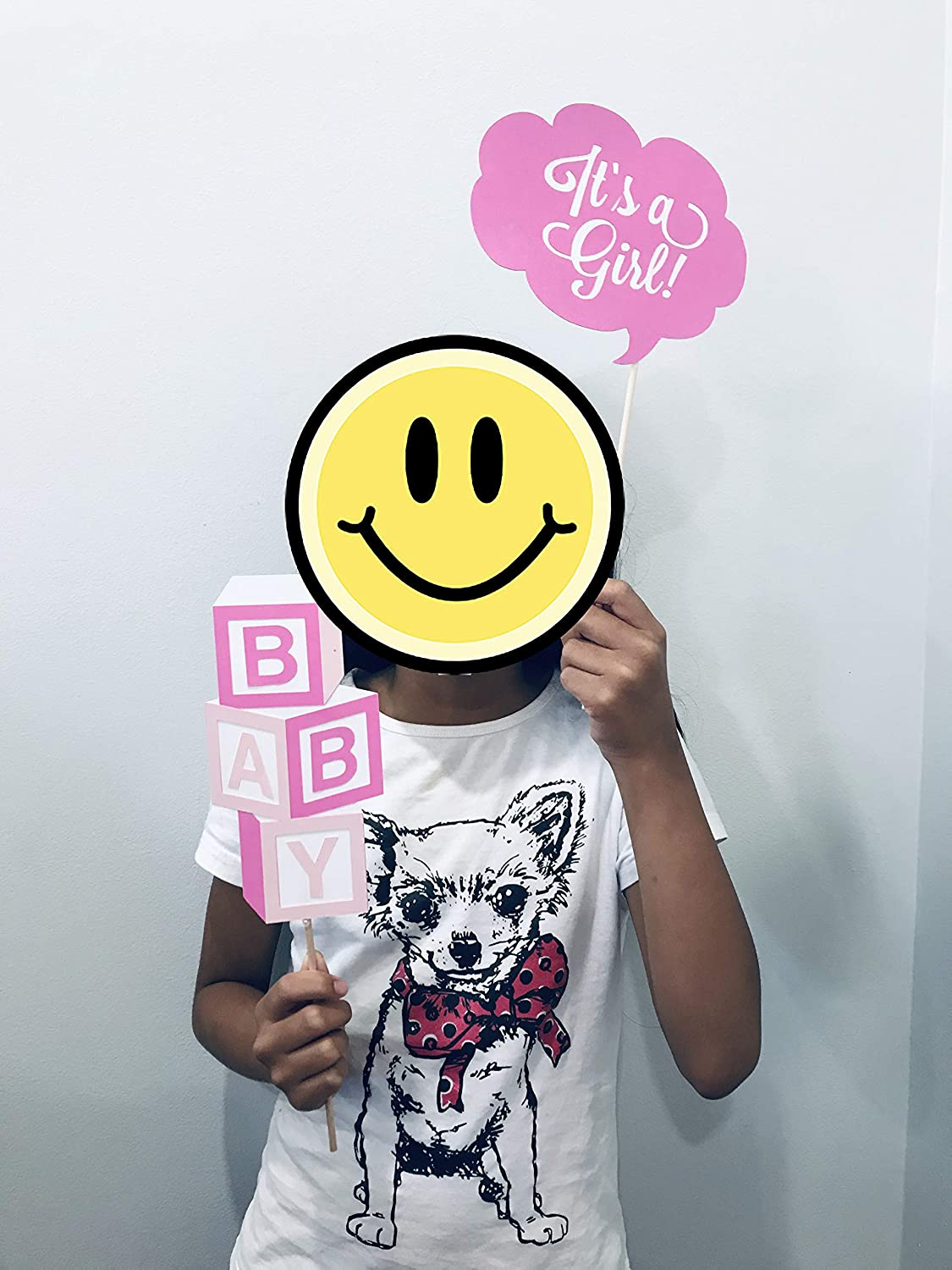 Baby Shower Centerpiece Baby Shower Decorations Baby Shower Photo Booth Props 15 pieces Gender Reveal Party Pink Baby Shower Party