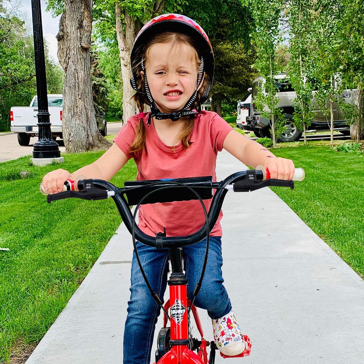 Nero LIOOBO 1 Paio di Bambini Leva Freno Bici-plastica Freno Universale Maniglia-Accessori Bicicletta